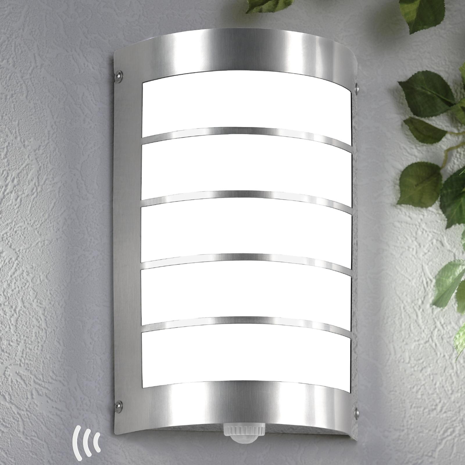 Außenwandlampe Marco1 mit Streben und Sensor