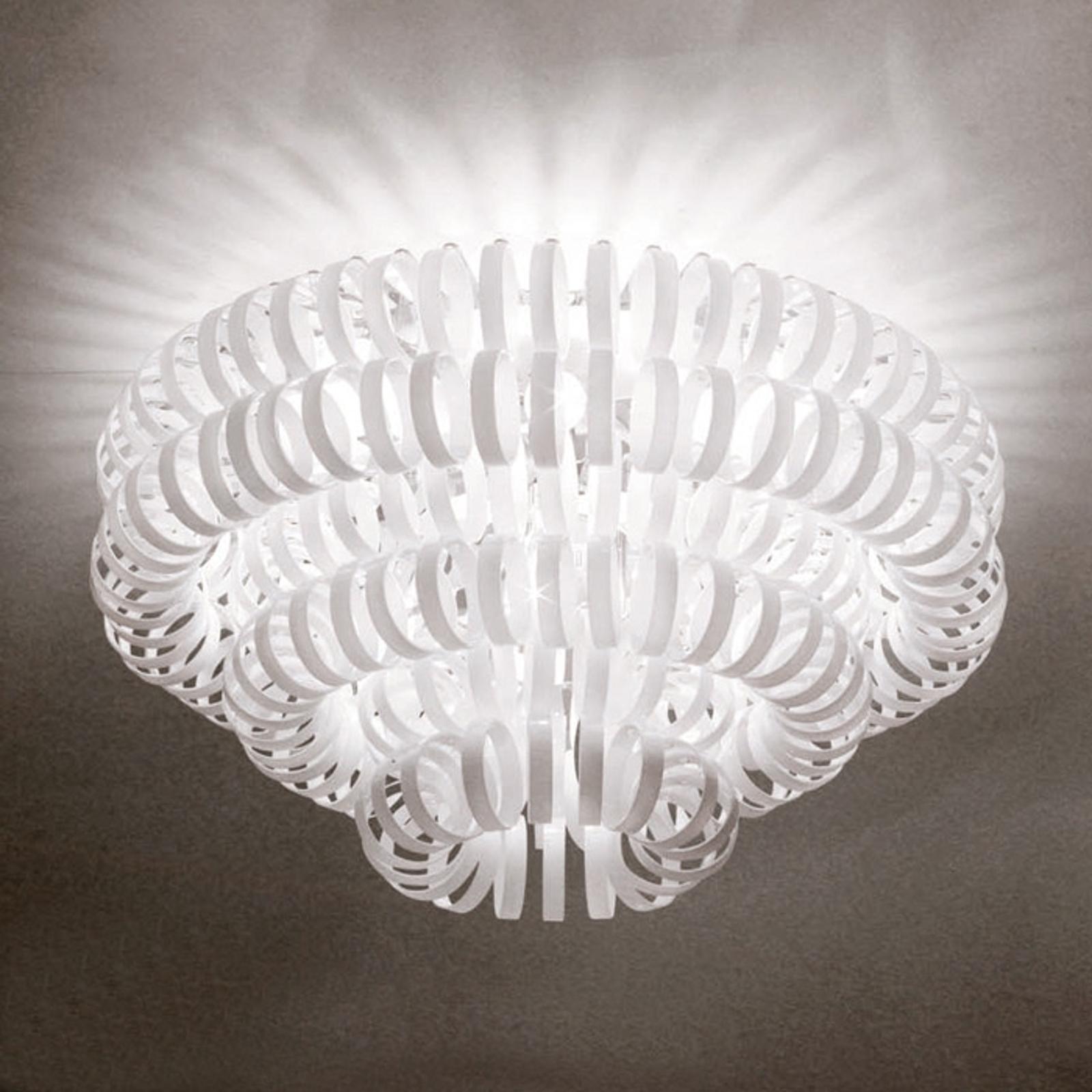 Szklana lampa sufitowa ECOS, biała