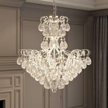 Lucande Linora lámpara colgante con cristal, cromo
