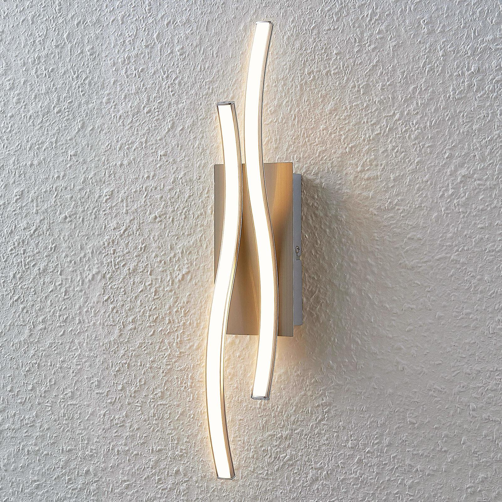 Applique LED Safia di forma ondulata