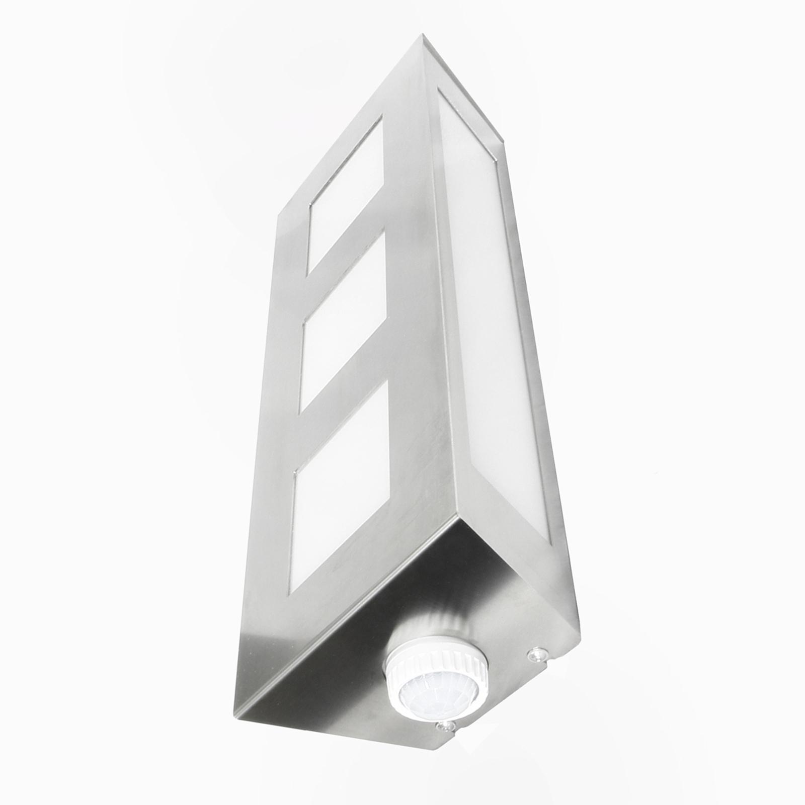 Attraente lampada parete esterni Trilo con sensore