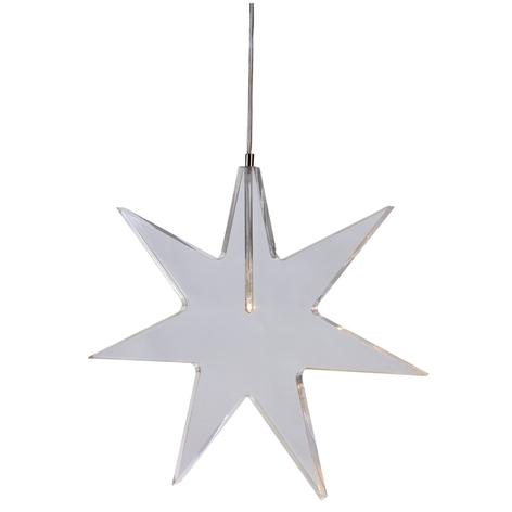 Stella LED trasparente - lampada decorativa Karla