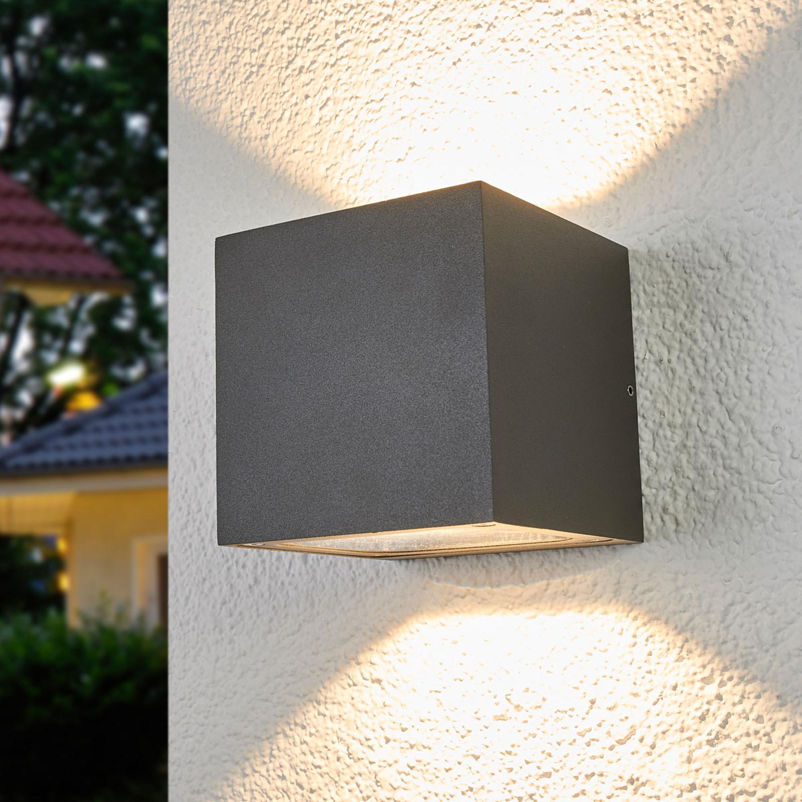 Klartlysende LED udendørs væglampe Merjem
