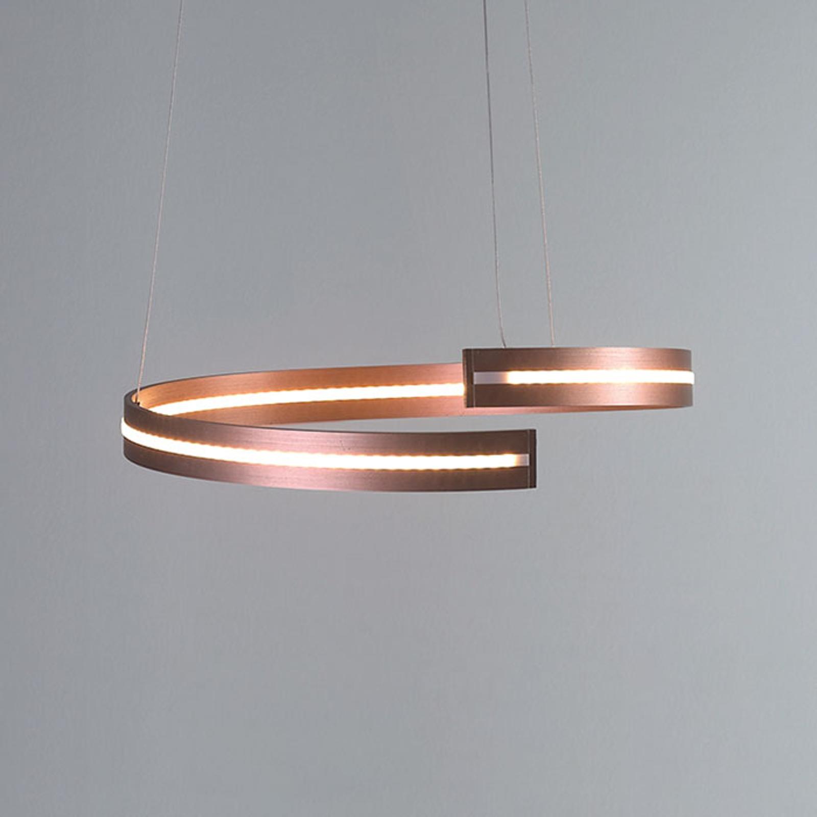 Bopp Break - LED-Hängeleuchte, 40 cm roségold