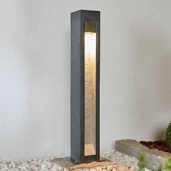 LED-pullertlampe Amelia med basalt, 70 cm