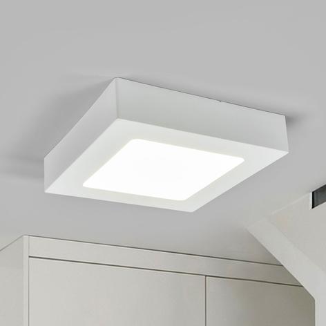 LED plafondlamp Marlo wit 4.000K hoekig 18,1 cm