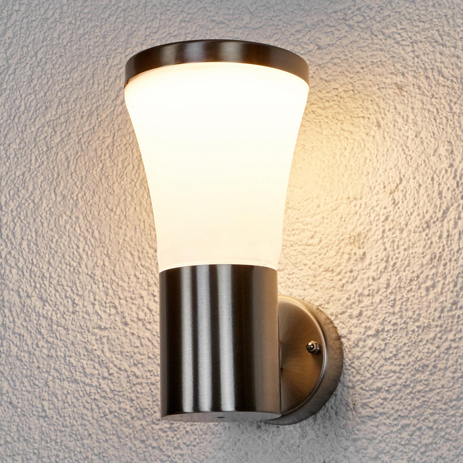 Edelstahl-Außenwandleuchte Sumea mit LED
