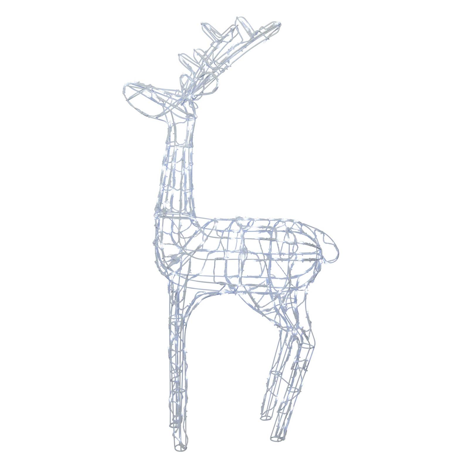 "*For X-Mas*: LED-Leuchtfigur ""Pegasus"" aus Metall, weiß"