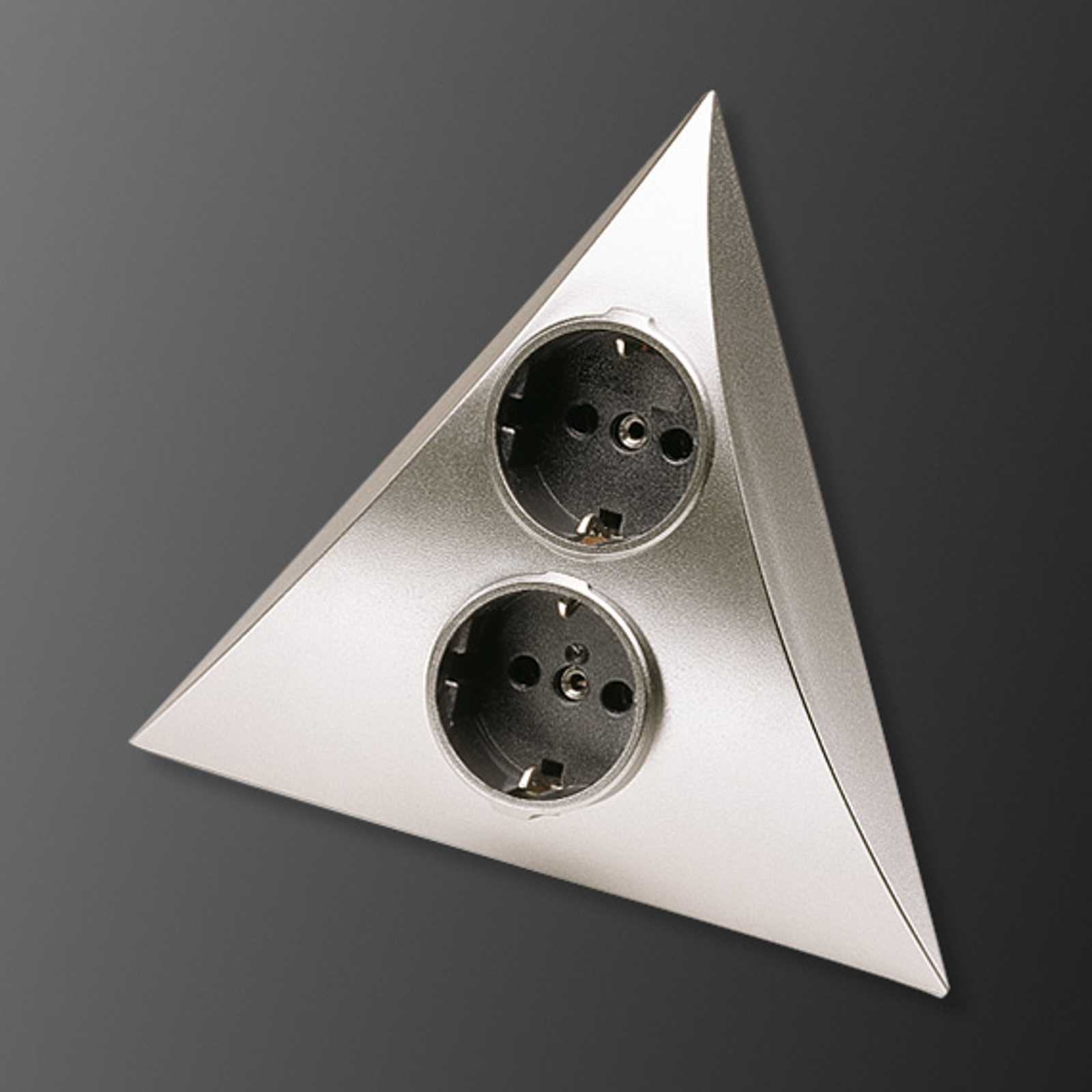 Stikkontakt-kombinasjon Luxor stål 2 stikkontakt