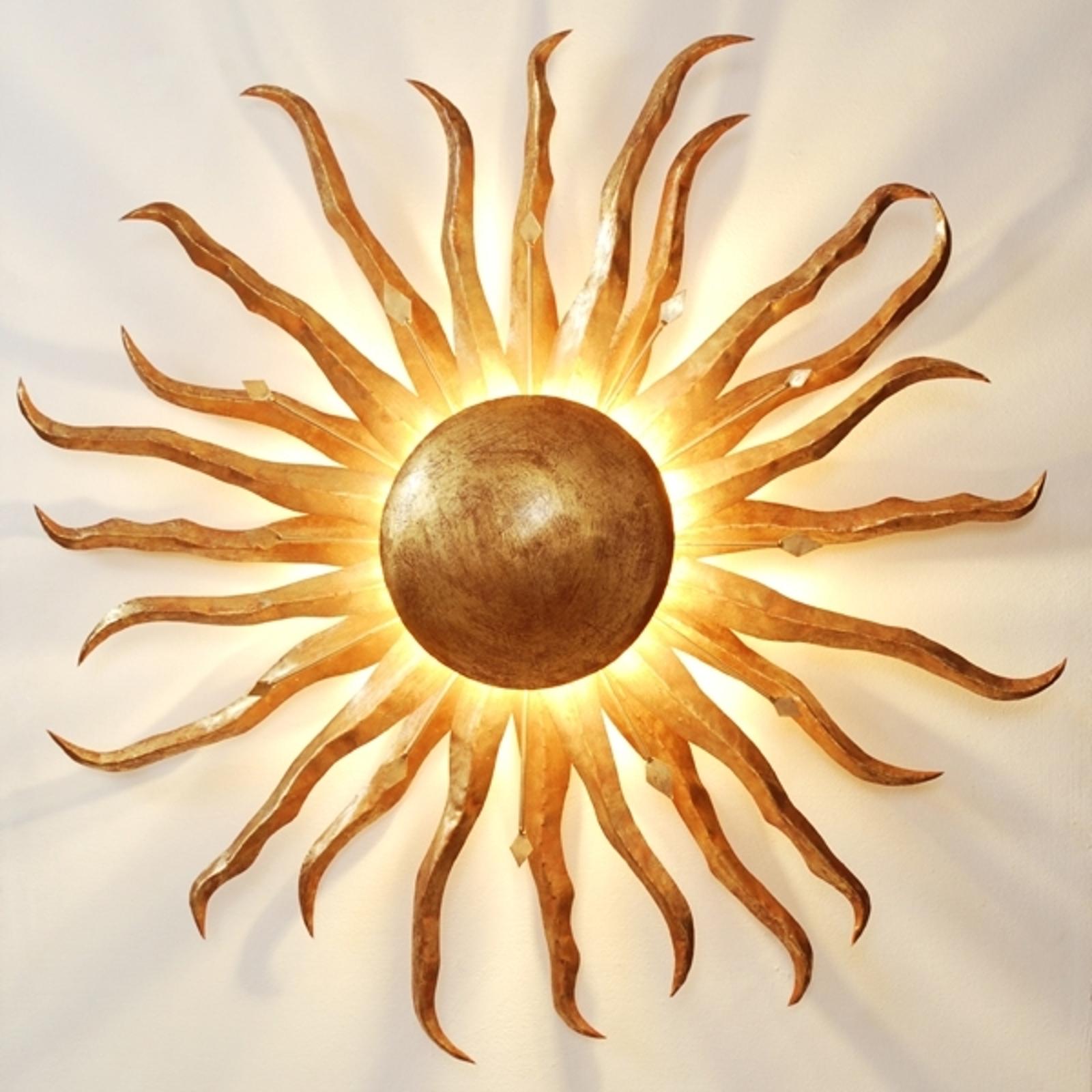 Nástěnné světlo Slunce Ø 70 cm zlaté