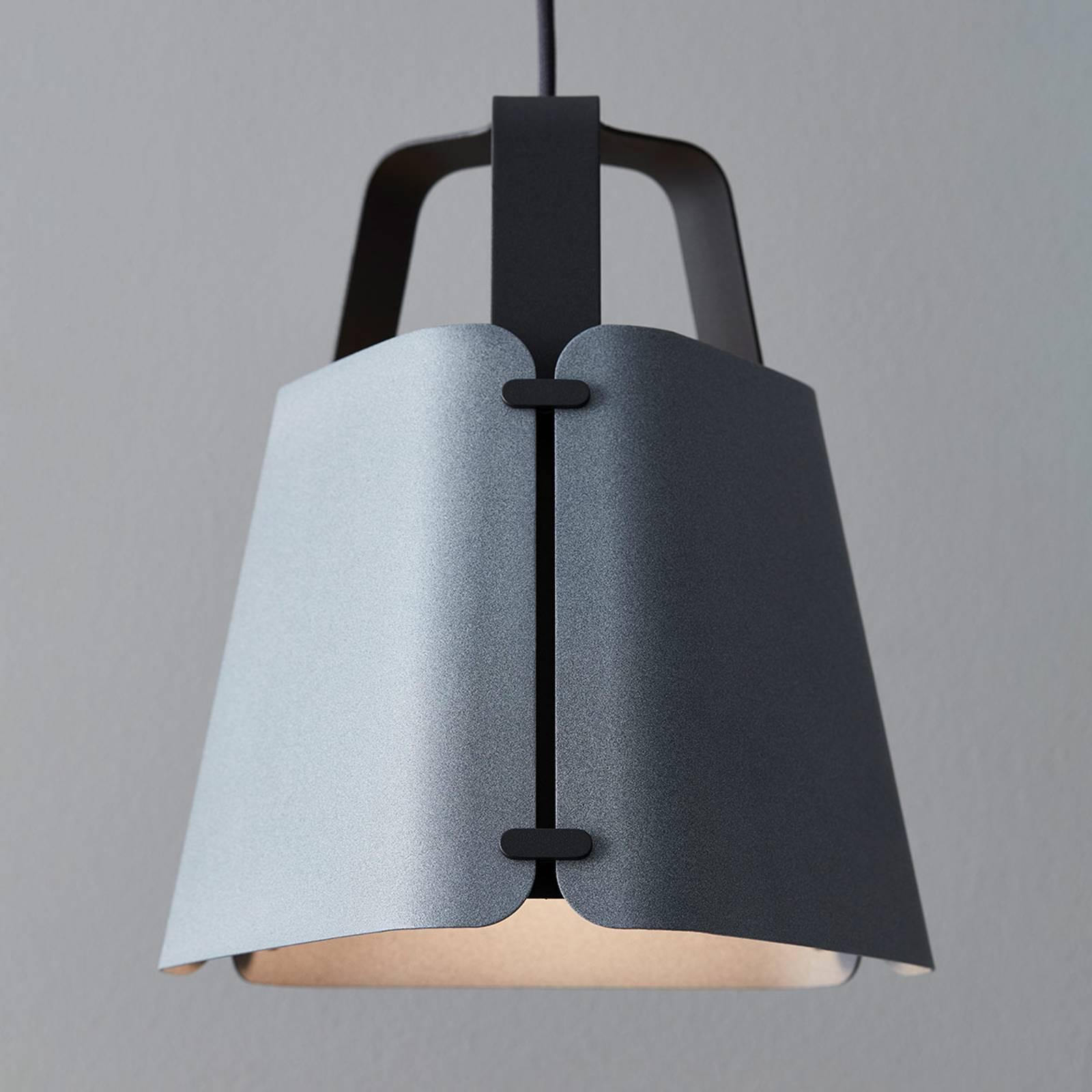 Hanglamp Fold, betonstructuur, 27,5 cm