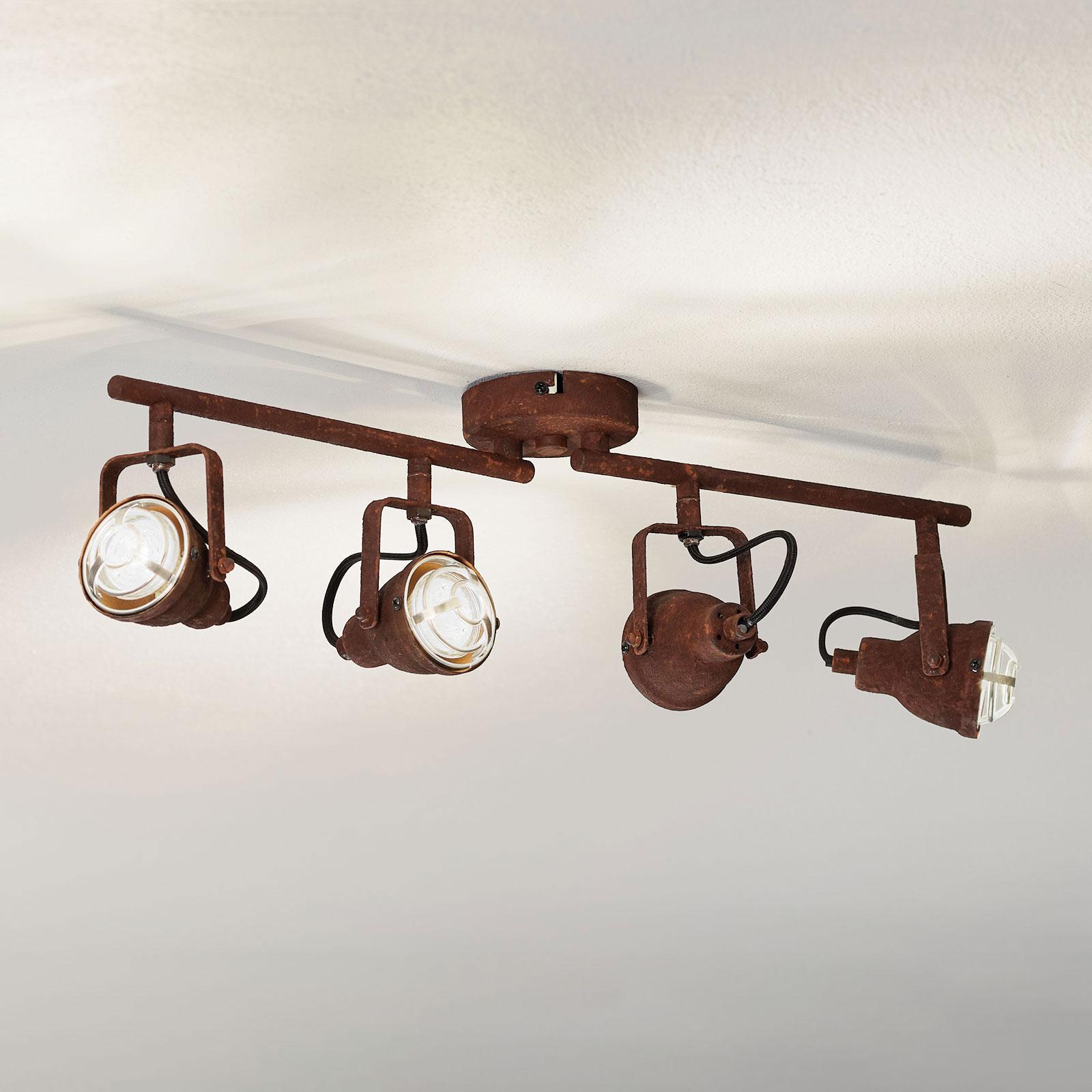 Poruszająca industrialna lampa sufitowa Bente