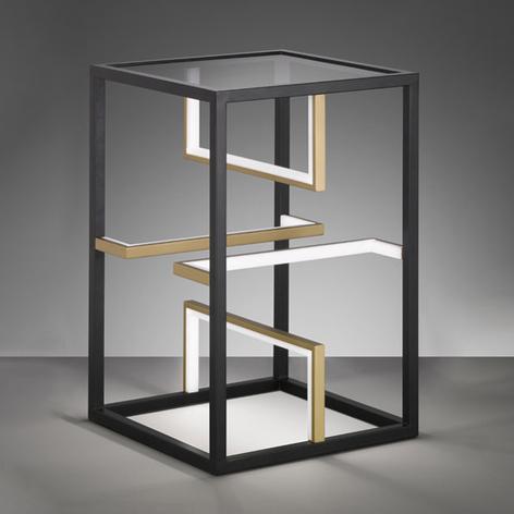 Lampada da tavolo LED Square 40x40cm, alta 60cm
