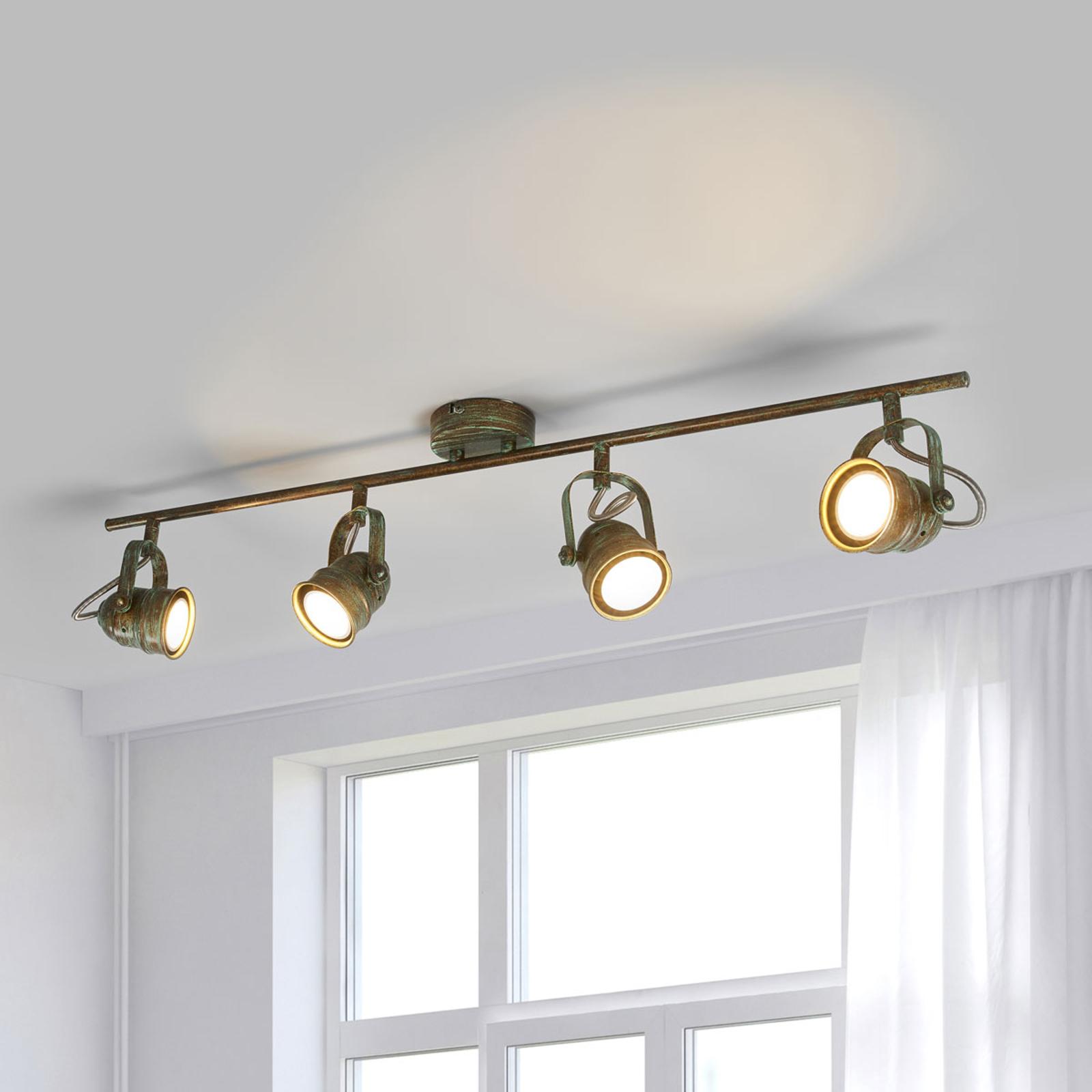Antieke LED plafondlamp Leonor