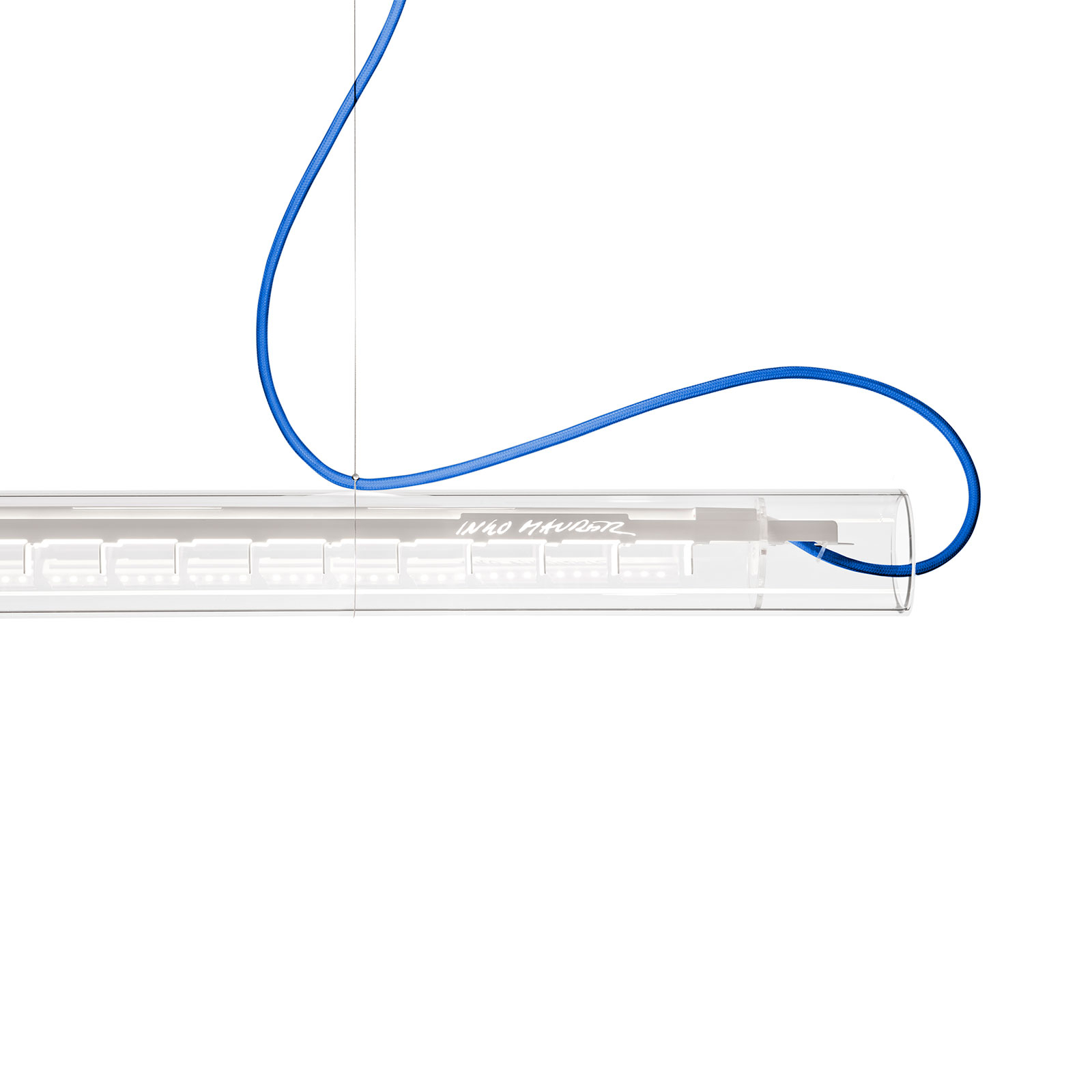 Ingo Maurer Tubular LED-Hängeleuchte, weiß/blau