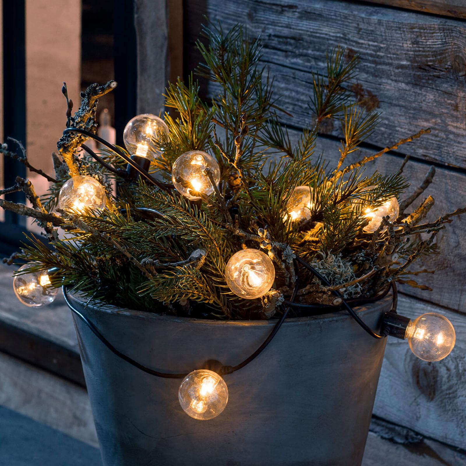 LED-ljusslinga glödtråds-look, bärnsten 10 lampor