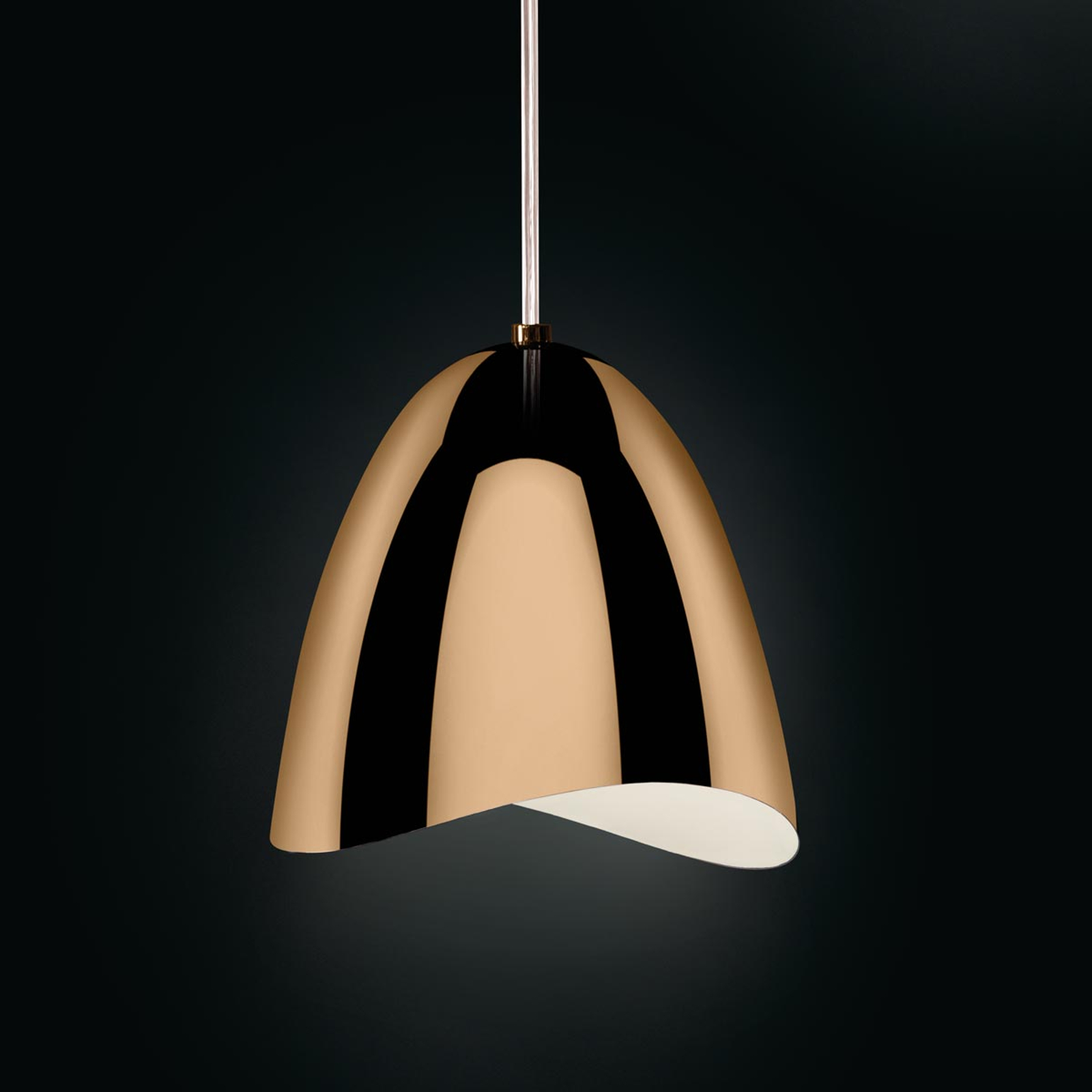 Messingfarbene LED hanglamp Mirage