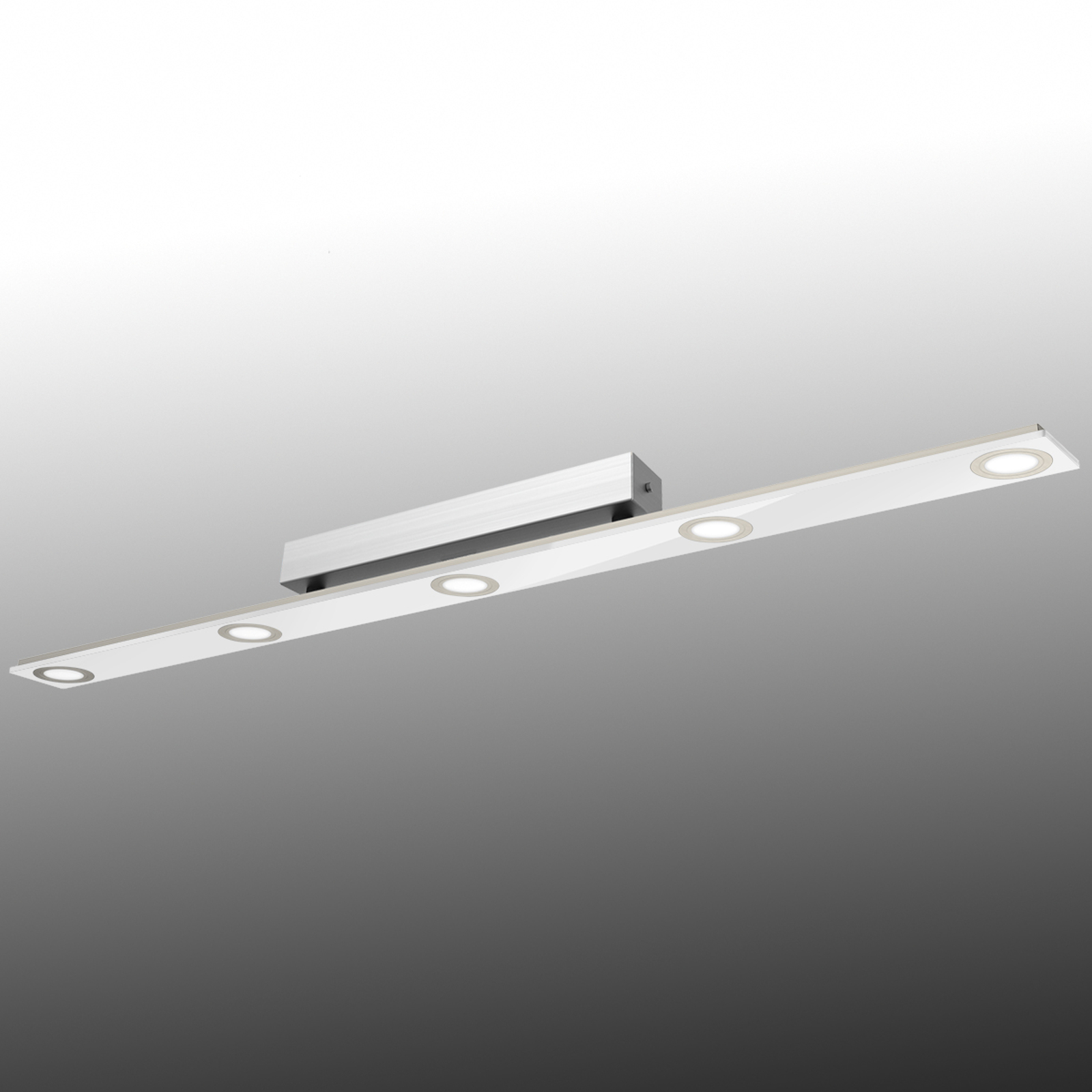 podłużna lampa sufitowa LED Pano, biała