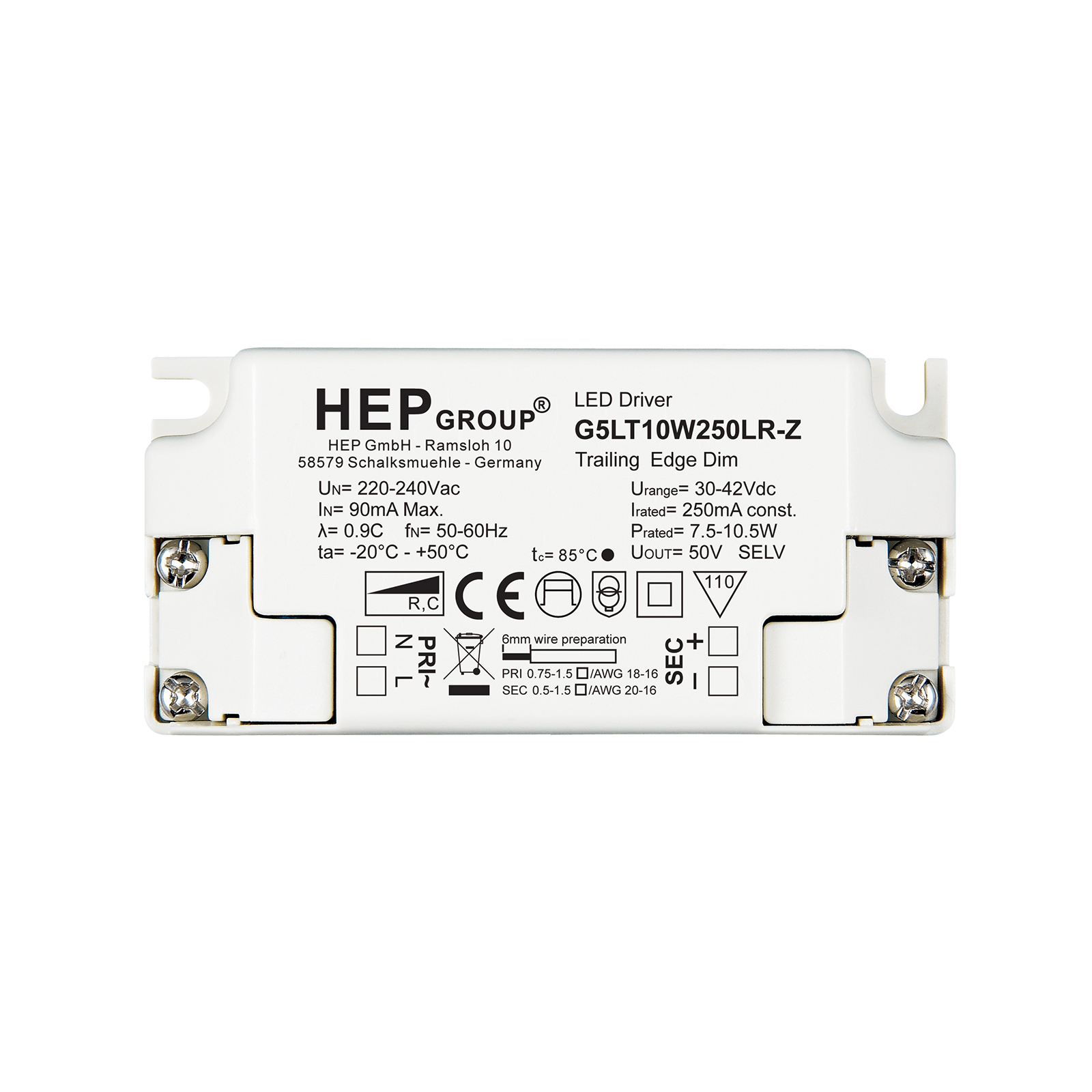 LED-Treiber G5LT, 10 W, 250 mA, dimmbar, CC
