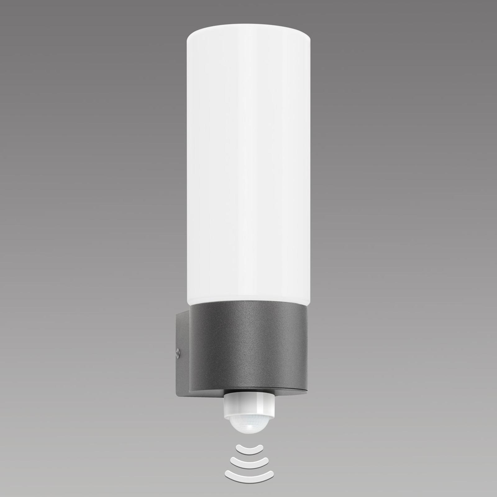Opalglas-Außenwandleuchte Gray, mit Sensor