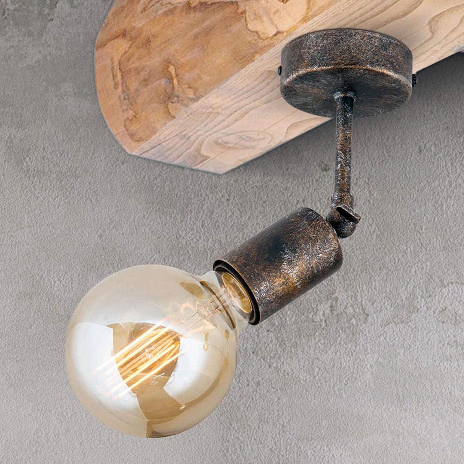 Beweeglijke plafondlamp Rati in vintage look