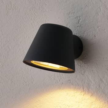 Antracitfarvet udendørs LED-væglampe Dingo, GU10