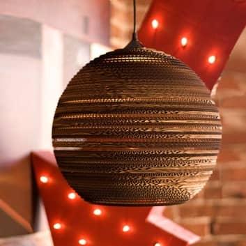 Ball - ronde kartonnen hanglamp t.b.v. het milieu