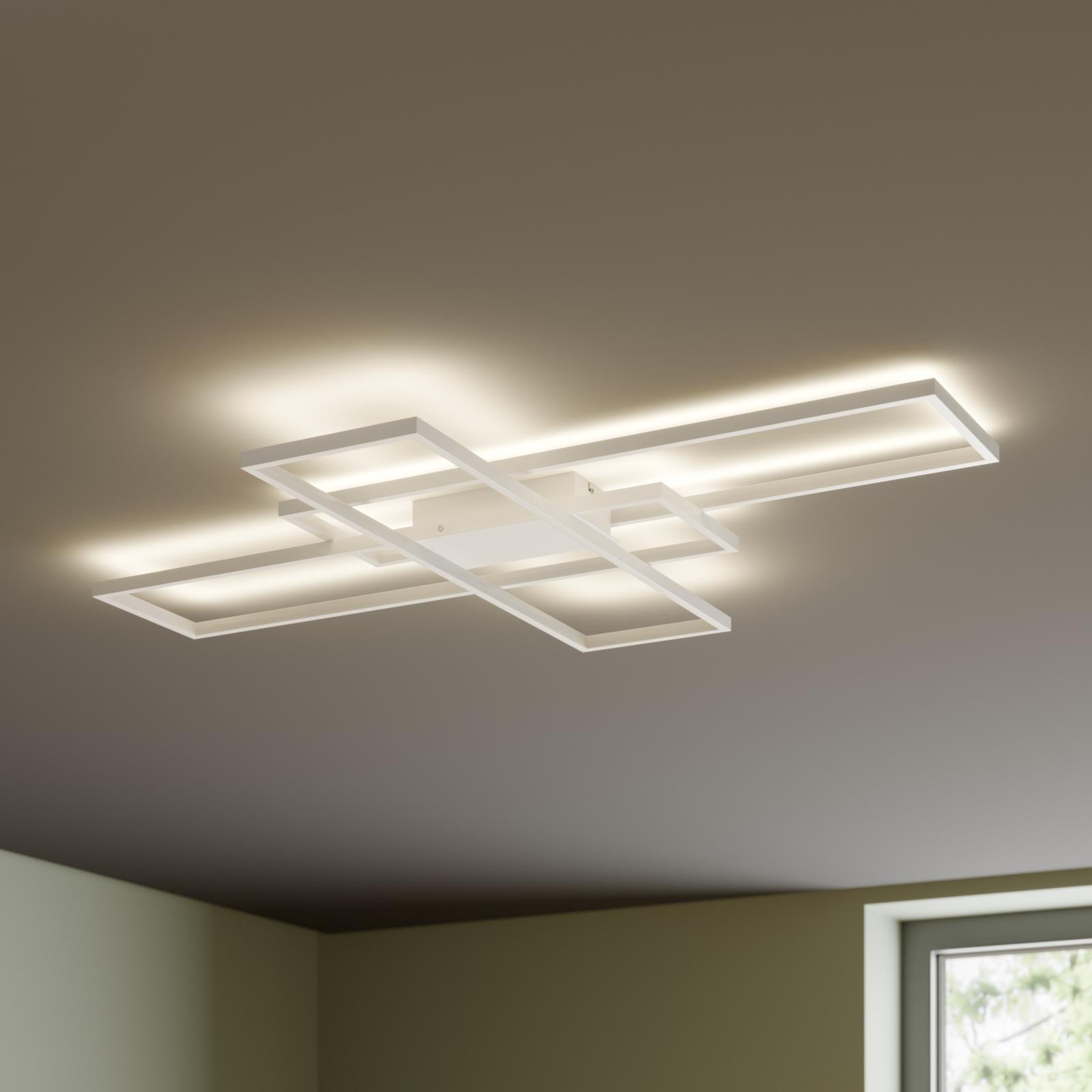 Lindby Tomke plafoniera LED bianca dimmerabile