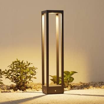 LED-väglampa Carlota, mörkgrå, 65 cm