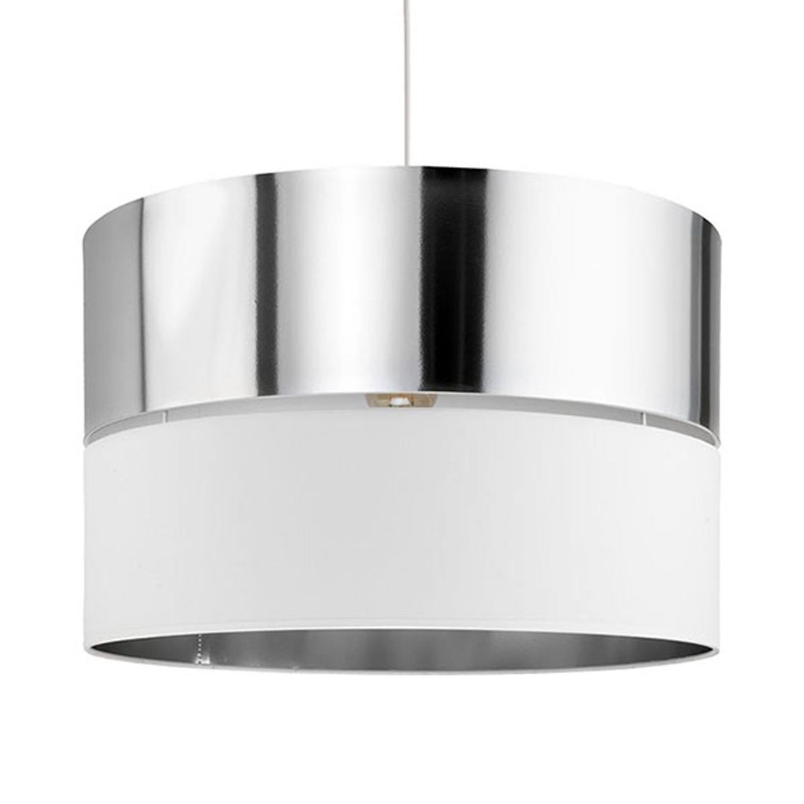 Hilton hengelampe, hvit/sølv, 1 lyskilde