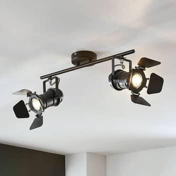 Lampa sufitowa Pilen, 2-pkt. w stylu reflektora