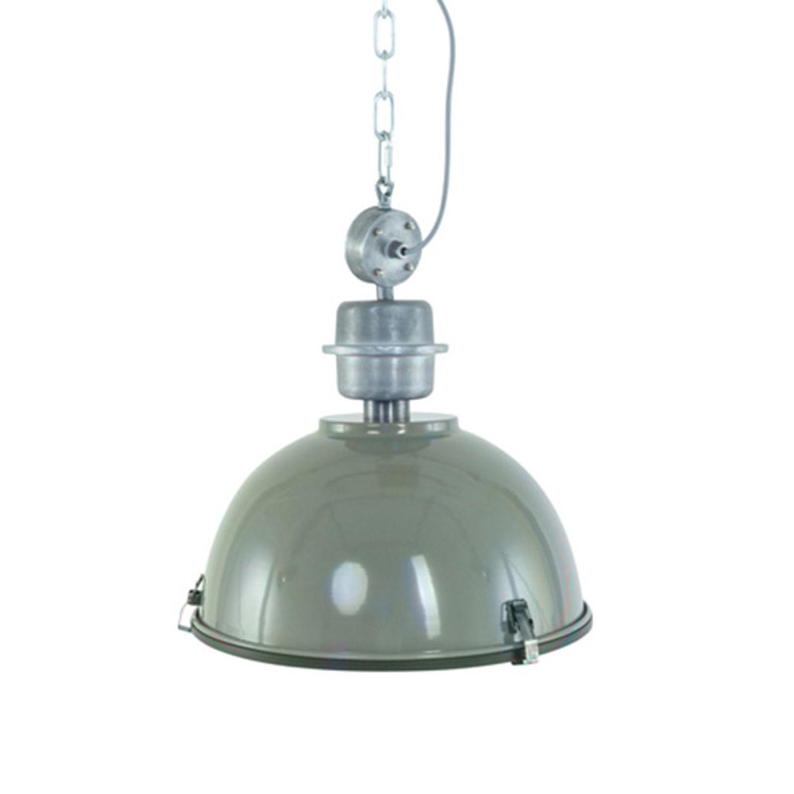 Bikkel - olijfgroene industriële hanglamp