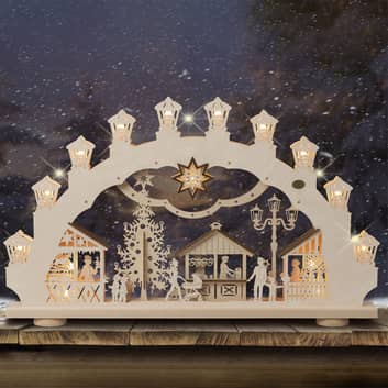 Lichtboog kerstmarkt 3D, 2 motieven