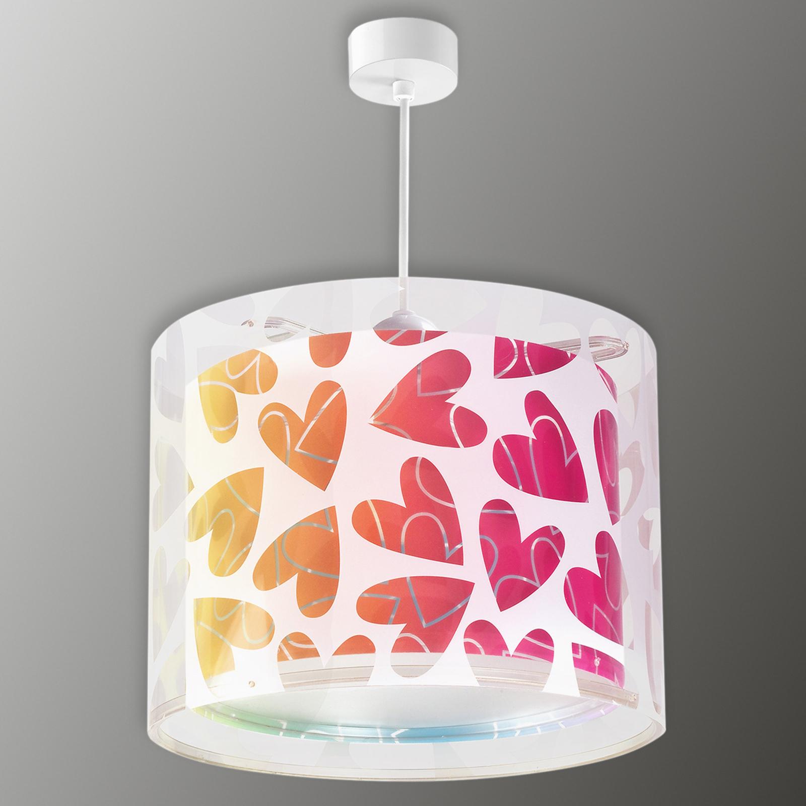 Lampada a sospensione Cuore decorata con cuori
