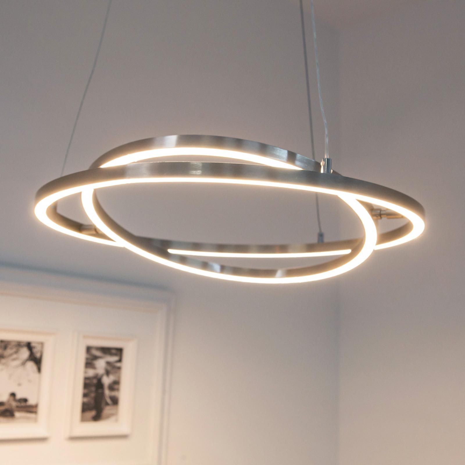 LED Hängeleuchte mit dimmbaren & beweglichen Licht Ringen