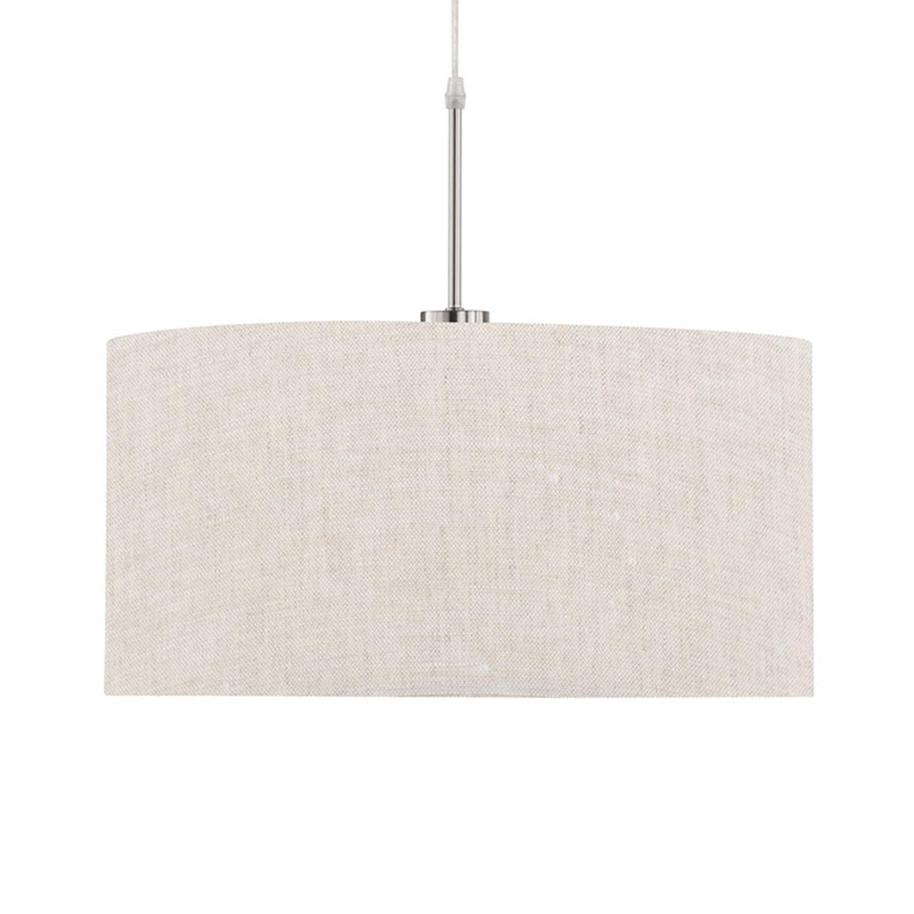 Lampa wisząca Marie tekstylny klosz, piasek Ø 50cm