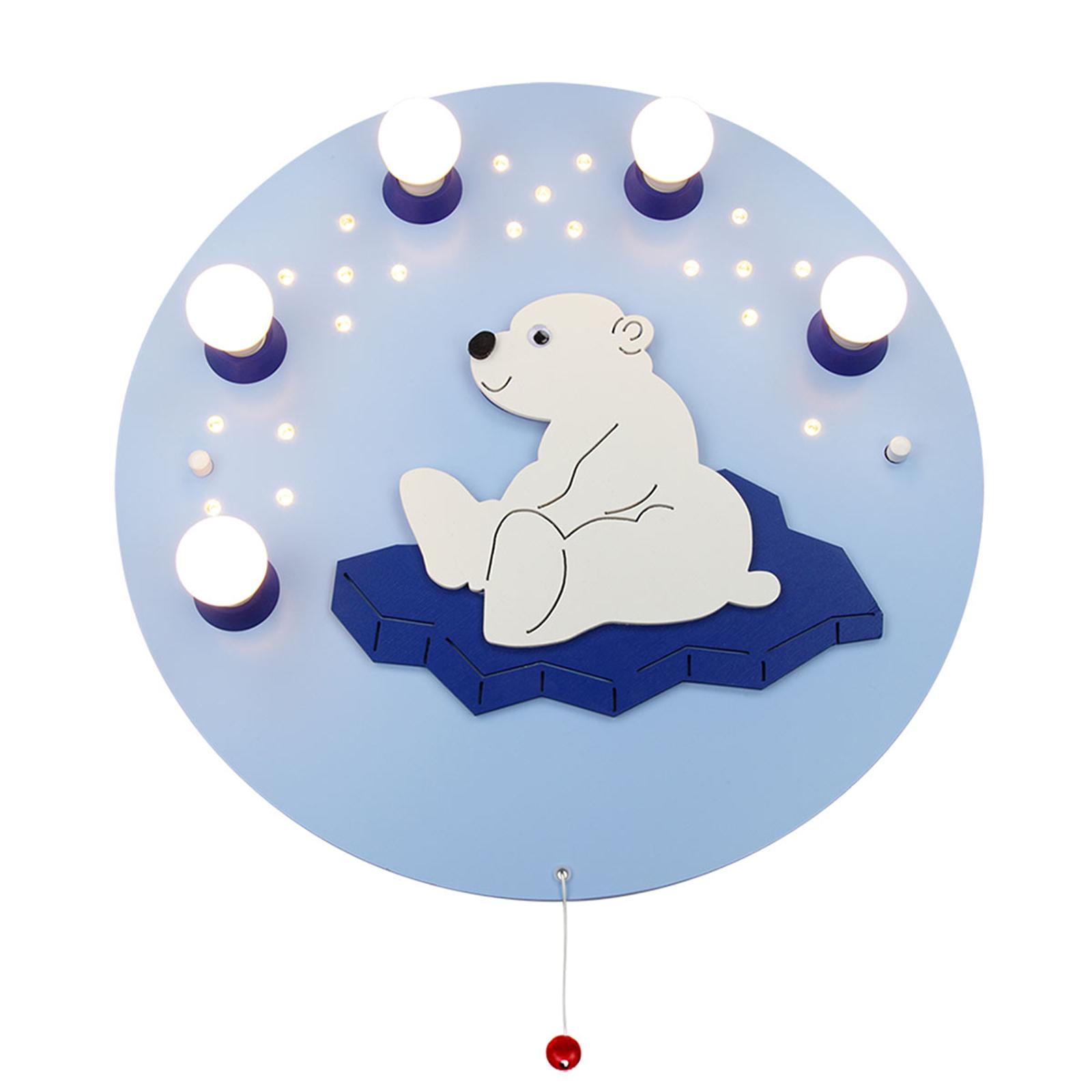 Lampa sufitowa Niedźwiedź polarny, 5-punktowa