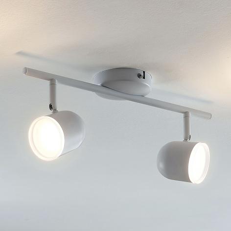 Plafonnier LED Ilka, réglable, blanc, 2lampes