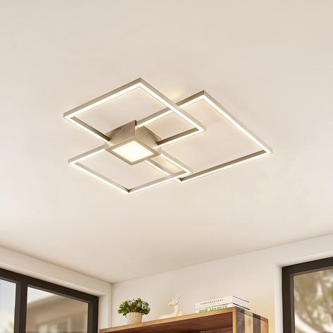 Lindby Duetto LED stropní svítidlo nikl 38W