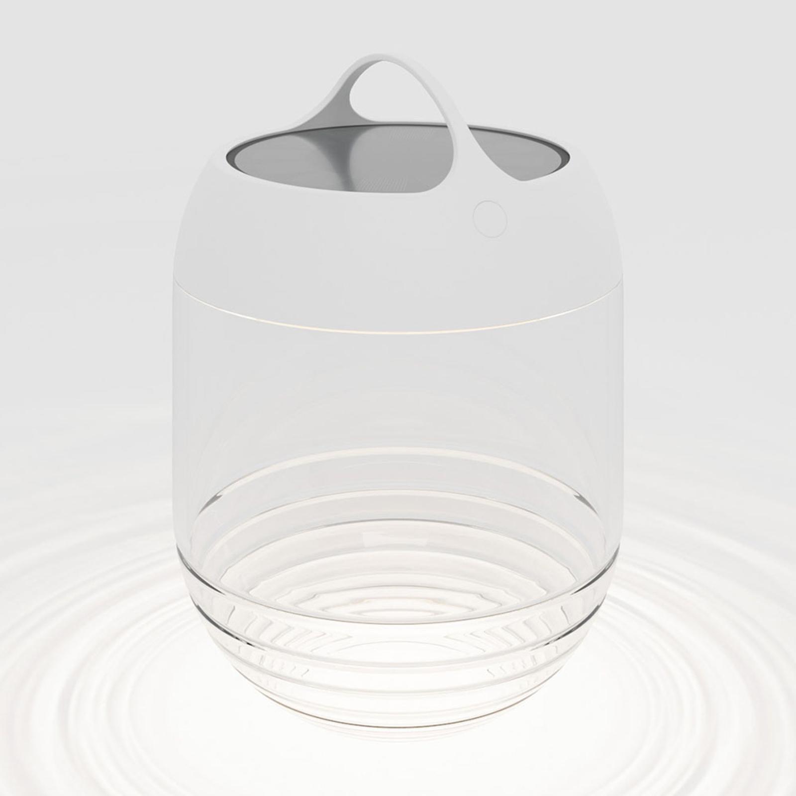 IP44.de aqu M lampa solarna LED 35 cm biała