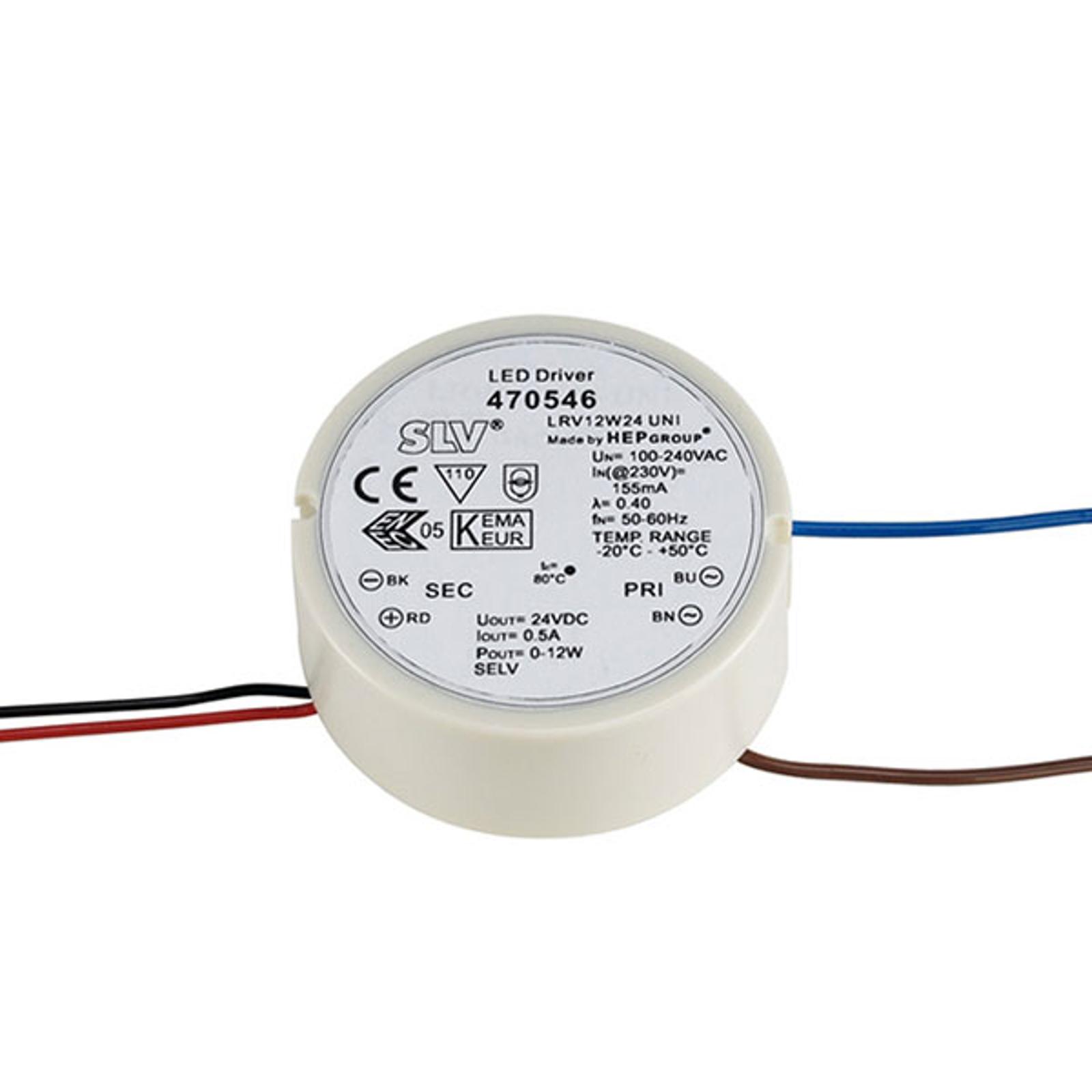 SLV LED-Netzteil 24V DC/12 W rund für Schalterdose