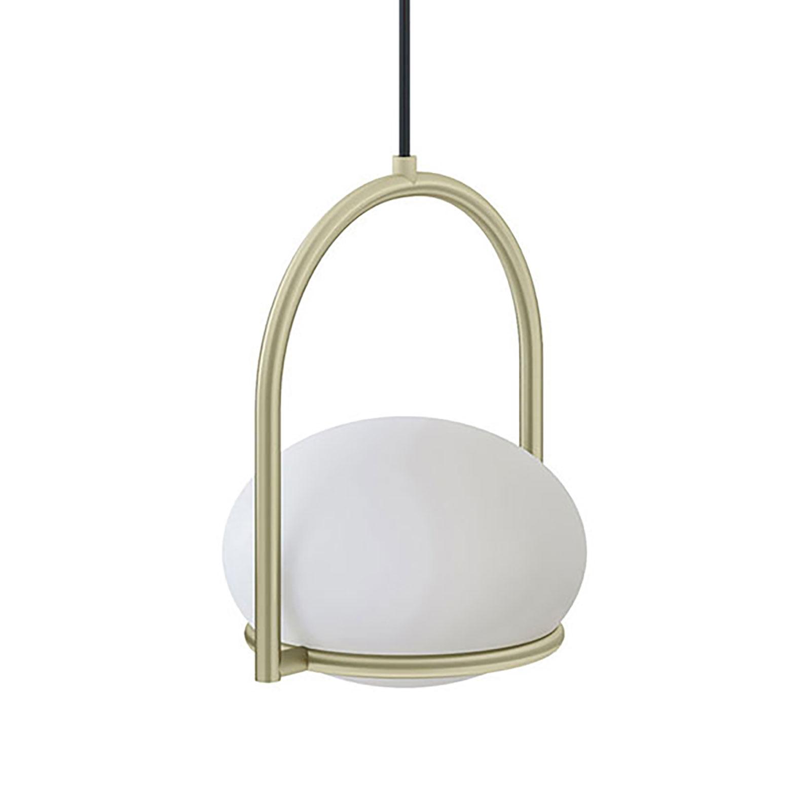 LEDS-C4 Coco Single suspension, dorée/blanche