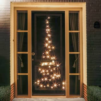 Deur-kerstboom-silhouet Fairybell® 60 LEDs