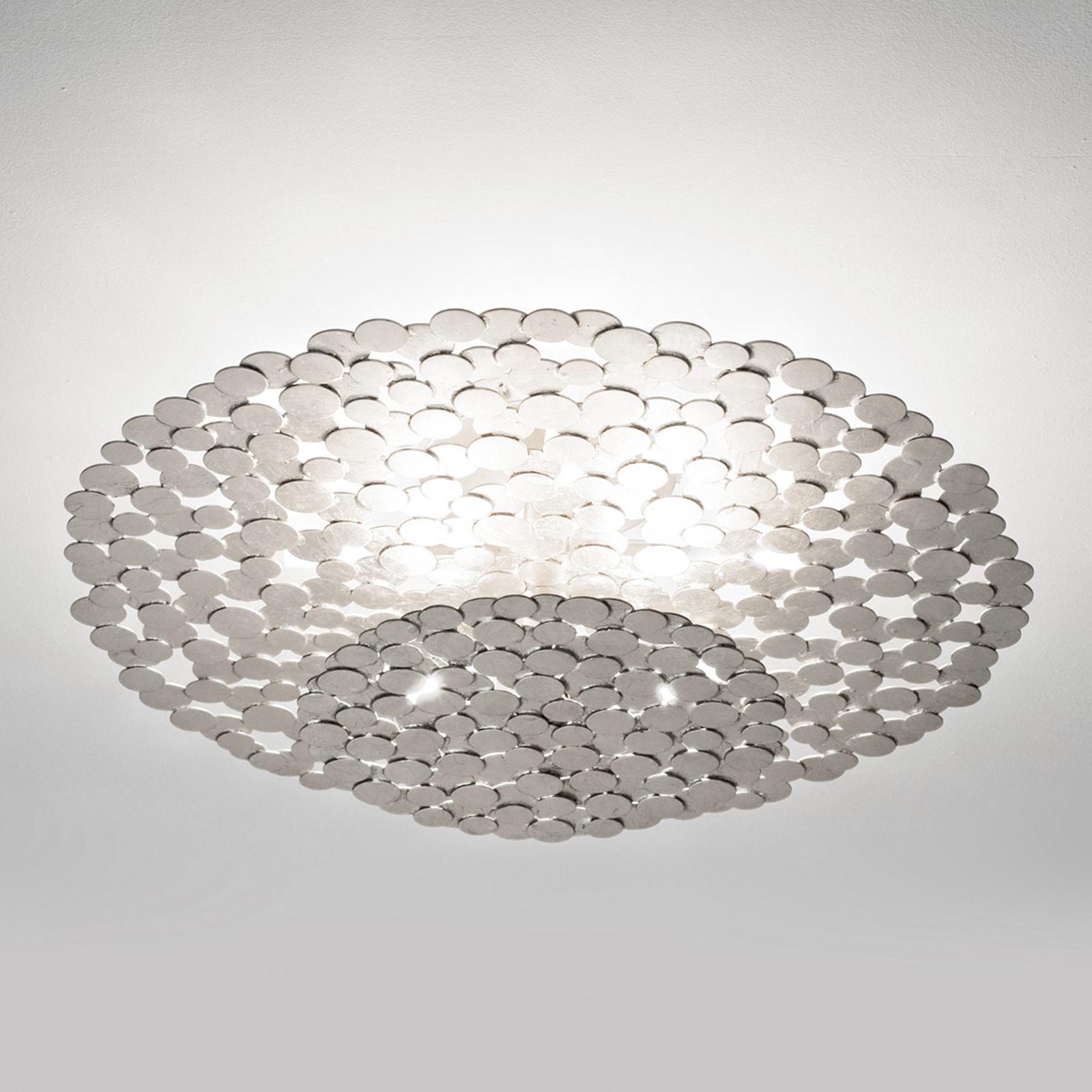 Terzani Tresor Designer-Deckenleuchte 45cm silber