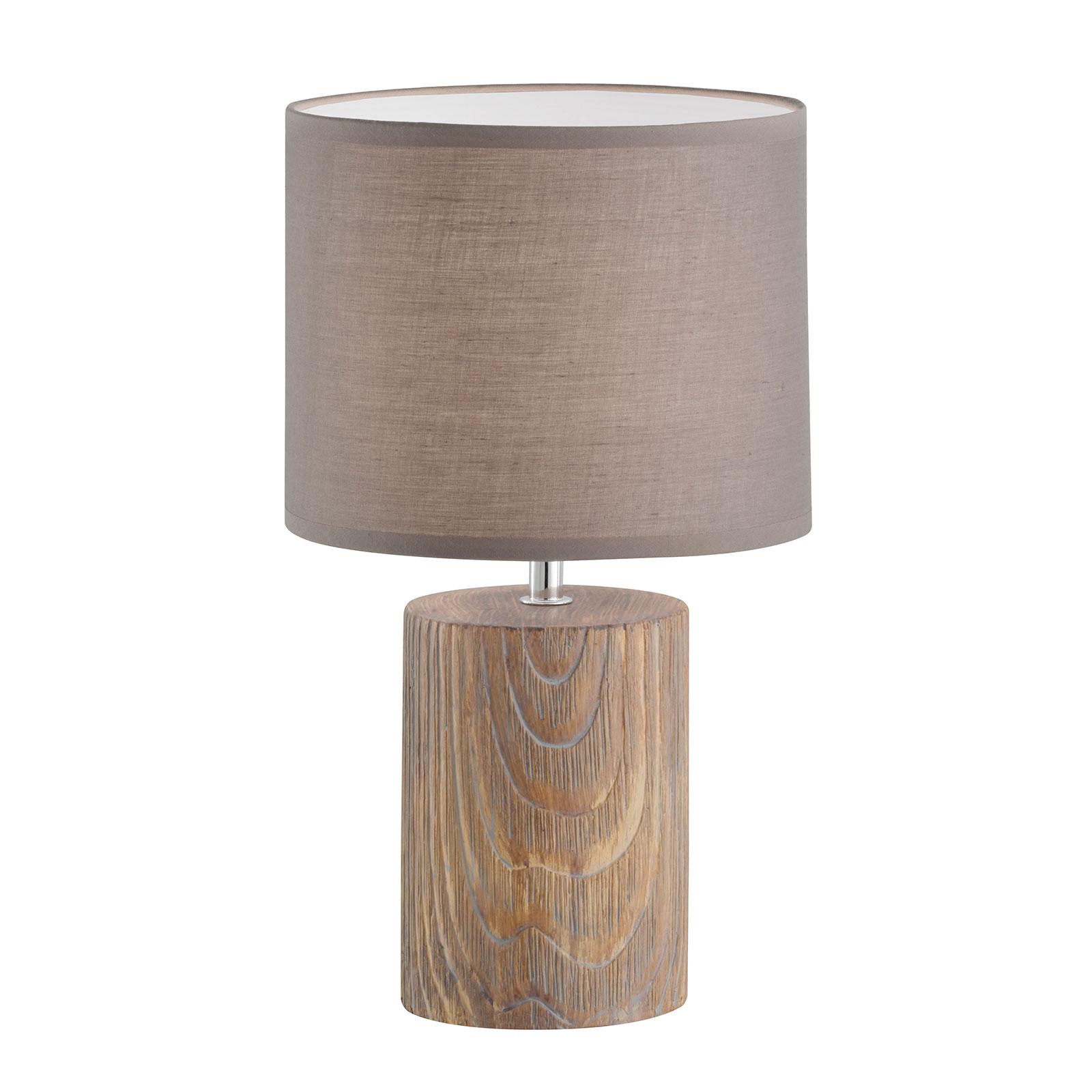 Tafellamp Malik in houtoptiek, 43 cm