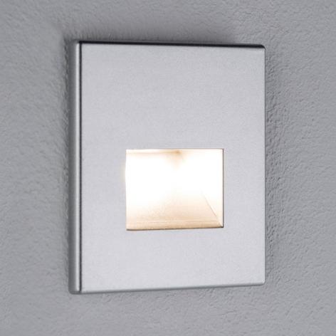 Paulmann LED-wandinbouwlamp Edge, chroom mat