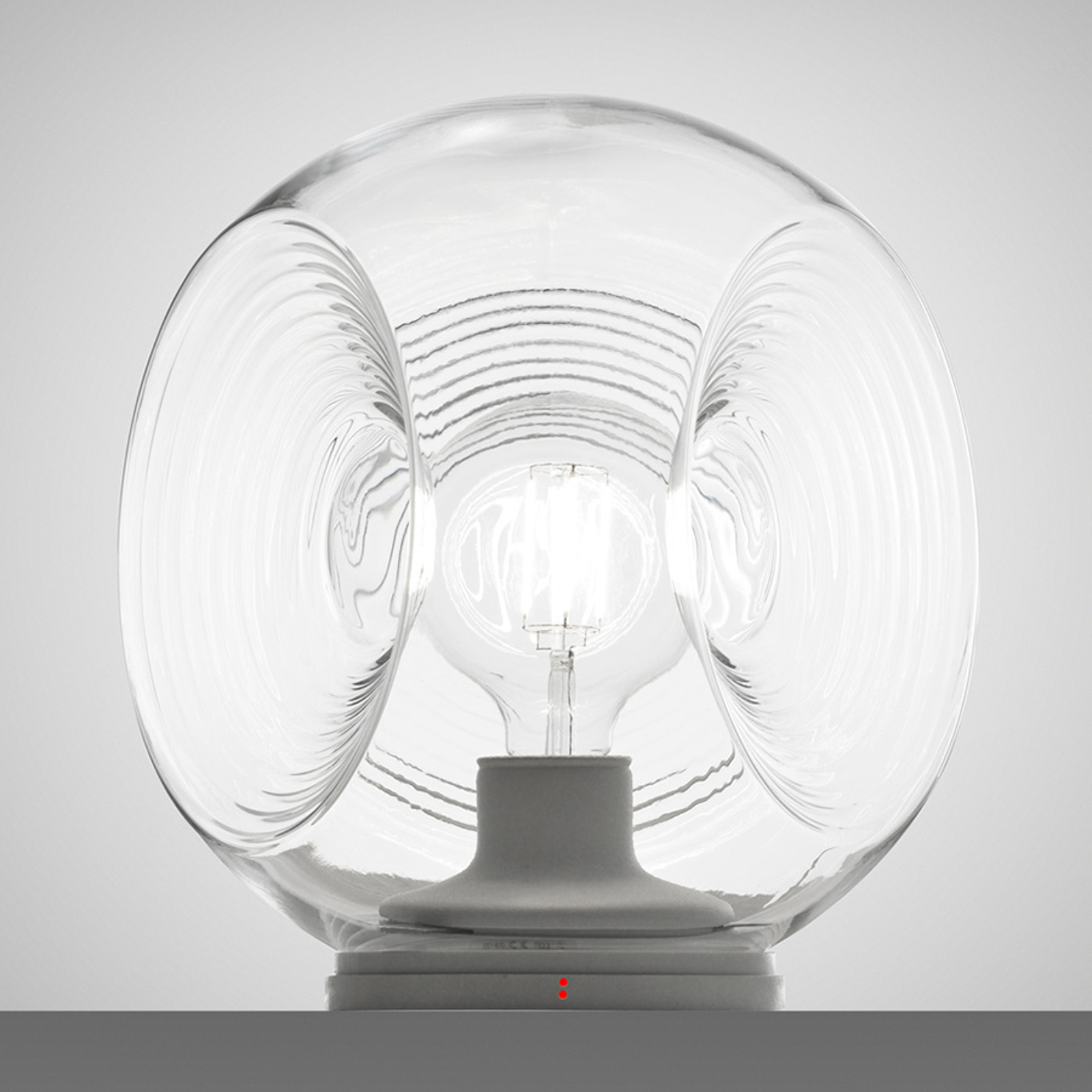 Fabbian Eyes -pöytälamppu lasia, kirkas diffuusori