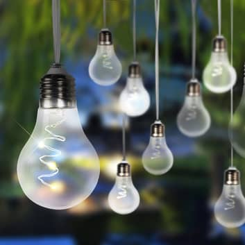 LED-solcelle-lyskæde 33708-10 i metallisk sølv