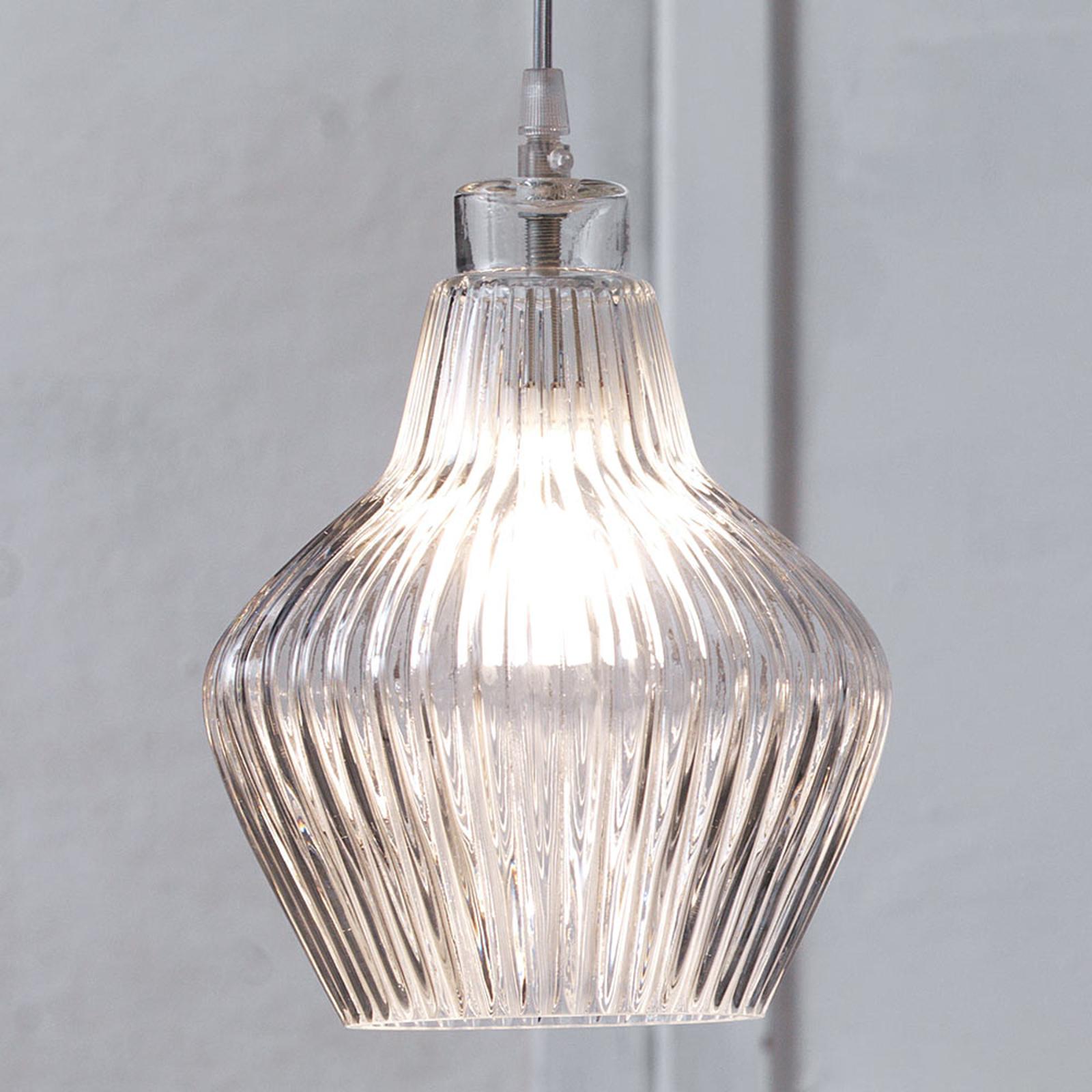 Karman Ceraunavolta szklana lampa wisząca pękata