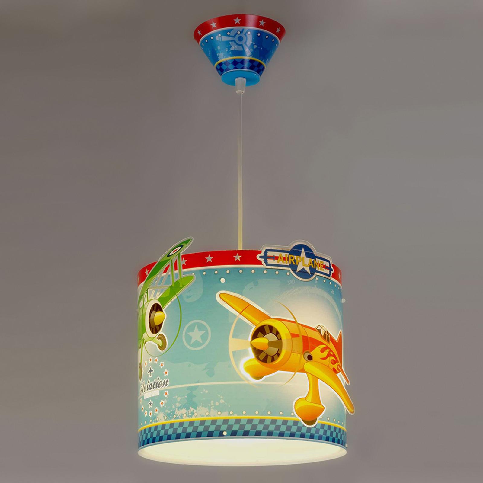 Avión - lámpara colgante con aviones